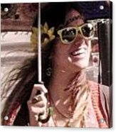 Hippie Chick Acrylic Print by Sharon Costa