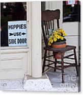 Hippies Use Side Door Acrylic Print by Louise Heusinkveld
