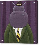 Hippo Nursery Art Acrylic Print by Christy Beckwith