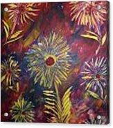Hippy Flowers Acrylic Print