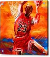His Airness Acrylic Print by Lourry Legarde