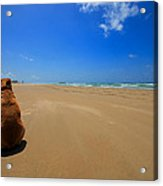 His Own Private Beach  Acrylic Print