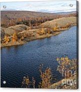 Historic Alaska Gold Dredge In Fall Acrylic Print