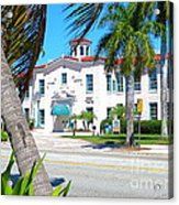 Historic And Beautiful Crest Theatre In Delray Beach. Florida. Acrylic Print
