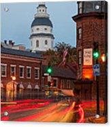 Historic Annapolis And Evening Traffic I Acrylic Print