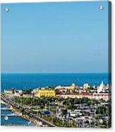 Historic Cartagena And Sea Acrylic Print