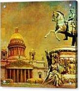 Historic Center Of Saint Petersburg Acrylic Print