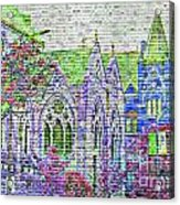 Historic Churches St Louis Mo - Digital Effect 4 Acrylic Print