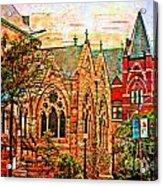 Historic Churches St Louis Mo - Digital Effect 6 Acrylic Print