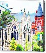 Historic Churches St Louis Mo - Digital Effect 7 Acrylic Print