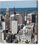 Historic City Centre Baltimore Acrylic Print
