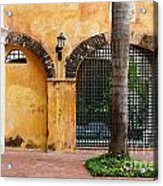 Historic Colonial Courtyard In Colombia Acrylic Print