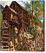 Historic Crystal Mill Acrylic Print by Adam Jewell