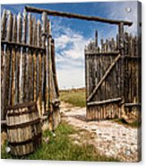 Historic Fort Bridger Gate - Wyoming Acrylic Print