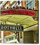 Historic Hotel Bothwell Acrylic Print