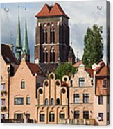 Historic Houses In Gdansk Acrylic Print