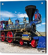 Historic Jupiter Steam Locomotive - Promontory Point Acrylic Print by Gary Whitton