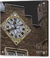 Historic London Clock Acrylic Print