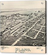 Historic Map Of Plano Texas 1891 Acrylic Print