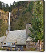 Historic Multnomah Falls Lodge Acrylic Print