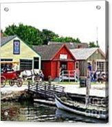 Historic Mystic Seaport Acrylic Print