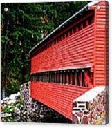 Historic Sach's Covered Bridge Acrylic Print
