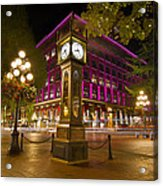 Historic Steam Clock In Gastown Vancouver Bc Acrylic Print