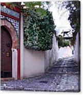 Historic Street At Albaycin In Granada' Acrylic Print