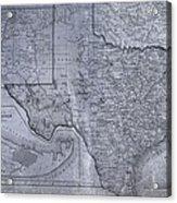 Historic Texas Map Acrylic Print by Dan Sproul