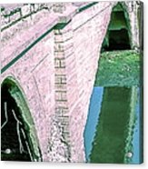 Historic Venice Canal Bridge In California Falling Apart In 1970. Acrylic Print
