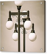 Historic Ybor Lamp Posts Acrylic Print