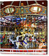 Historical Carousel In Tennessee Acrylic Print