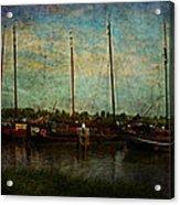 Historical Harbor Woudrichem The Netherlands Acrylic Print