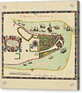 Historical Map Of Manhattan 1661 Acrylic Print