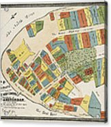Historical Map Of Manhattan Acrylic Print