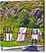 Historical Reenactment Near Visitor's Center In Signal Hill National Historic Site In St. John's-nl Acrylic Print