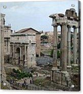 Historical Ruins Acrylic Print by Fraida Gutovich