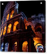 Historical Shapes In The Night Acrylic Print