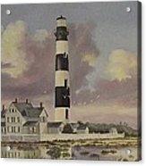 History of Morris lighthouse Acrylic Print