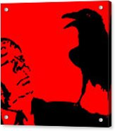 Hitchcock In Red Acrylic Print by Jera Sky