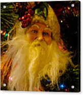 Ho Ho Ho Merry Christmas Acrylic Print by Al Bourassa