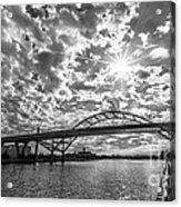 Hoan Bridge Peak Thru Acrylic Print