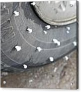 Hoarfrost On Tire Acrylic Print