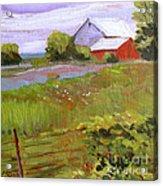 Hobbs Farm Acrylic Print by Charlie Spear