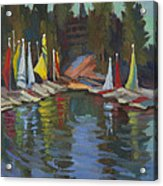 Hobie Cats At Lake Arrowhead Acrylic Print