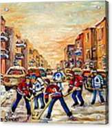 Hockey Daze Acrylic Print