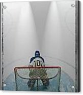 Hockey Goalie In Crease Acrylic Print