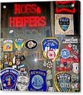 Hogs And Heifers Window Acrylic Print
