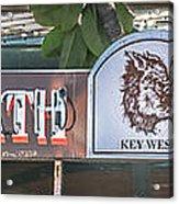 Hog's Breath Saloon 1 Key West - Hdr Style Acrylic Print