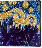 Hogwarts Starry Night Acrylic Print by Jera Sky